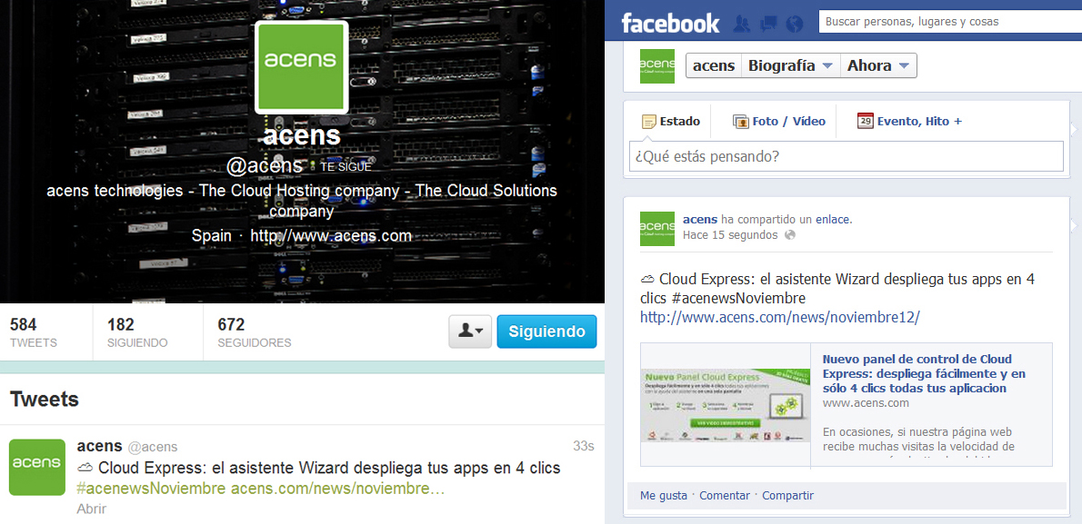 Facebook y Twitter nube acens -blog-de-acens-the-cloud-hosting-company