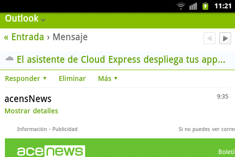 Outlook y Samsung simbolo Cloud asunto acenews -blog-de-acens-the-cloud-hosting-company