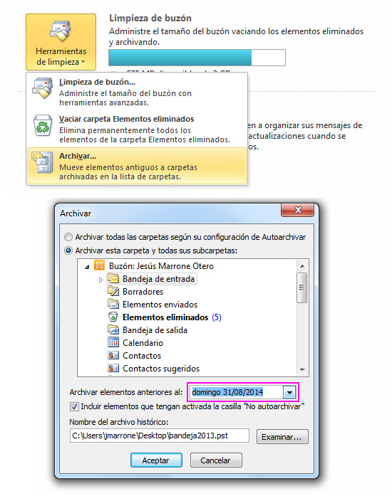 archivar-emails-outlook-acens-blog-cloud