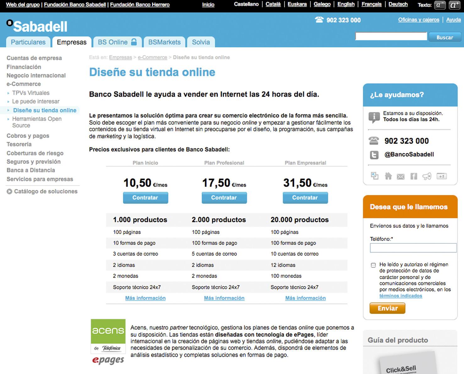 Banco sabadell recomienda a sus clientes las tiendas - Sabadell on line ...