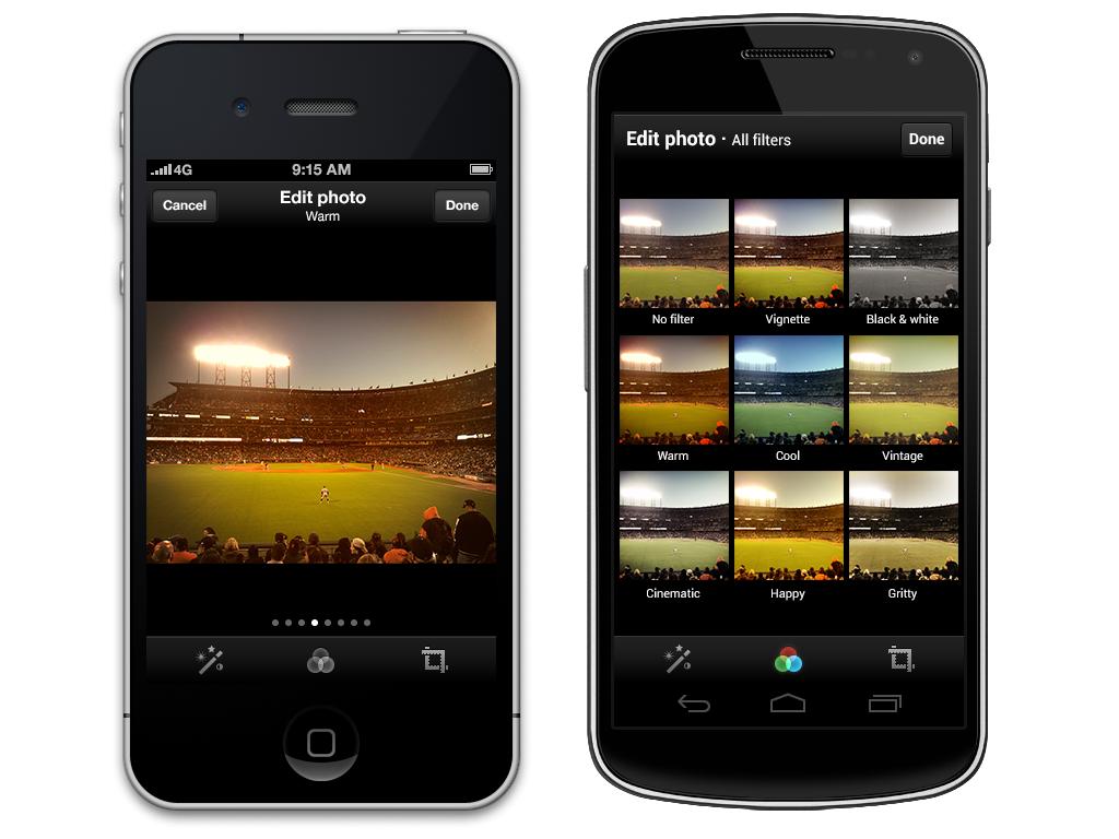La imagen nos muestra los distintos filtros que permite aplicar Twitter a las imágenes que subamos a su plataforma.