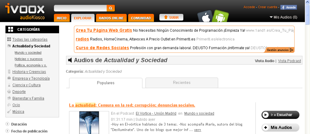ivoox compartir audio - blog acens the cloud hosting company