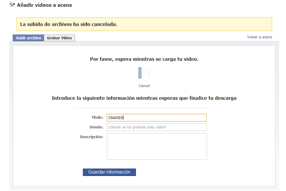 meter informacion videos subidos - blog acens the cloud hosting