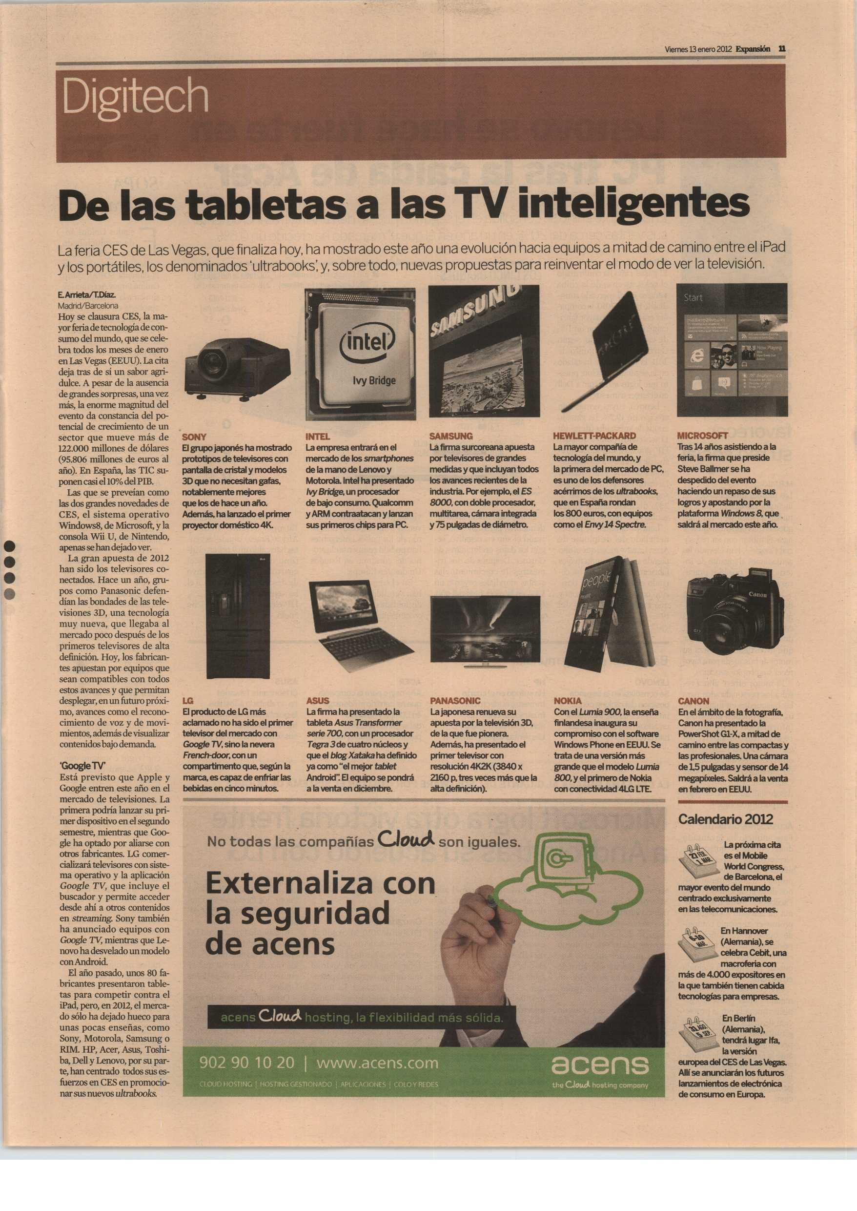 noticia digitech televisiones inteligentes - blog acens the cloud hosting company