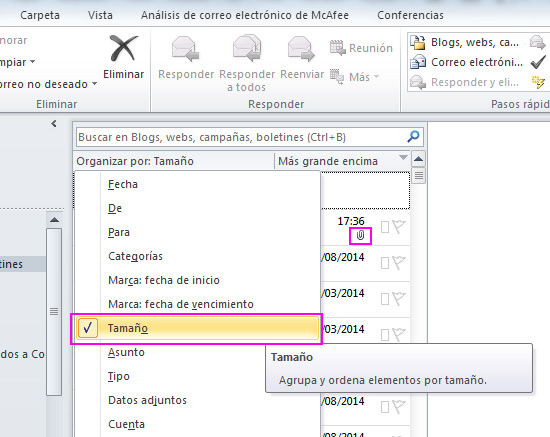 organizar-correo-tamano-acens-blog-cloud
