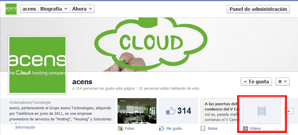 seccion destacados videos - blog acens the cloud hosting company