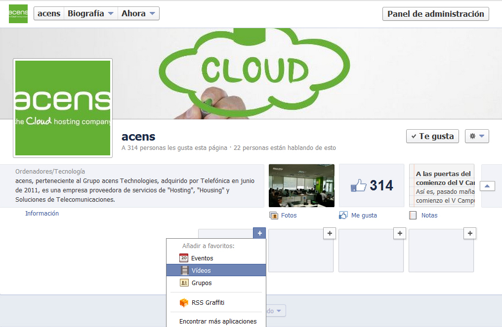 seleccionar video - blog acens the cloud hosting company